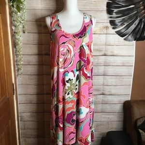 Tommy Bahama sleeveless pink dress size 1X